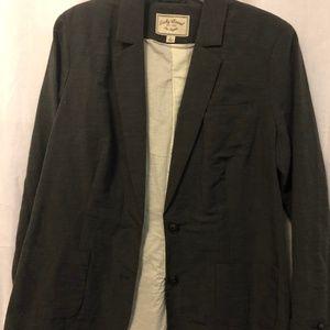 Lucky Brand Men's Dark Gray Blazer Size Large